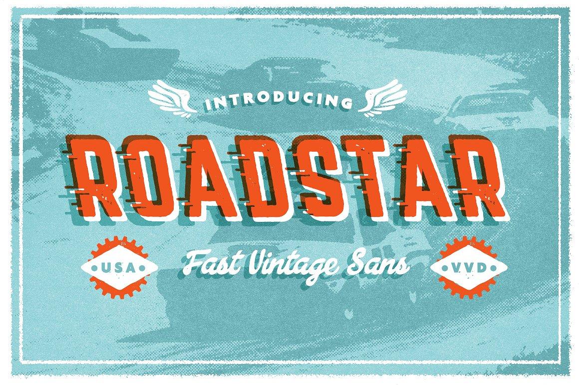 Roadstar Sans Font by Vintage Voyage Design Co