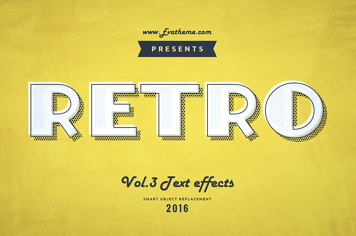 Retro Style Text Effects by Evatheme