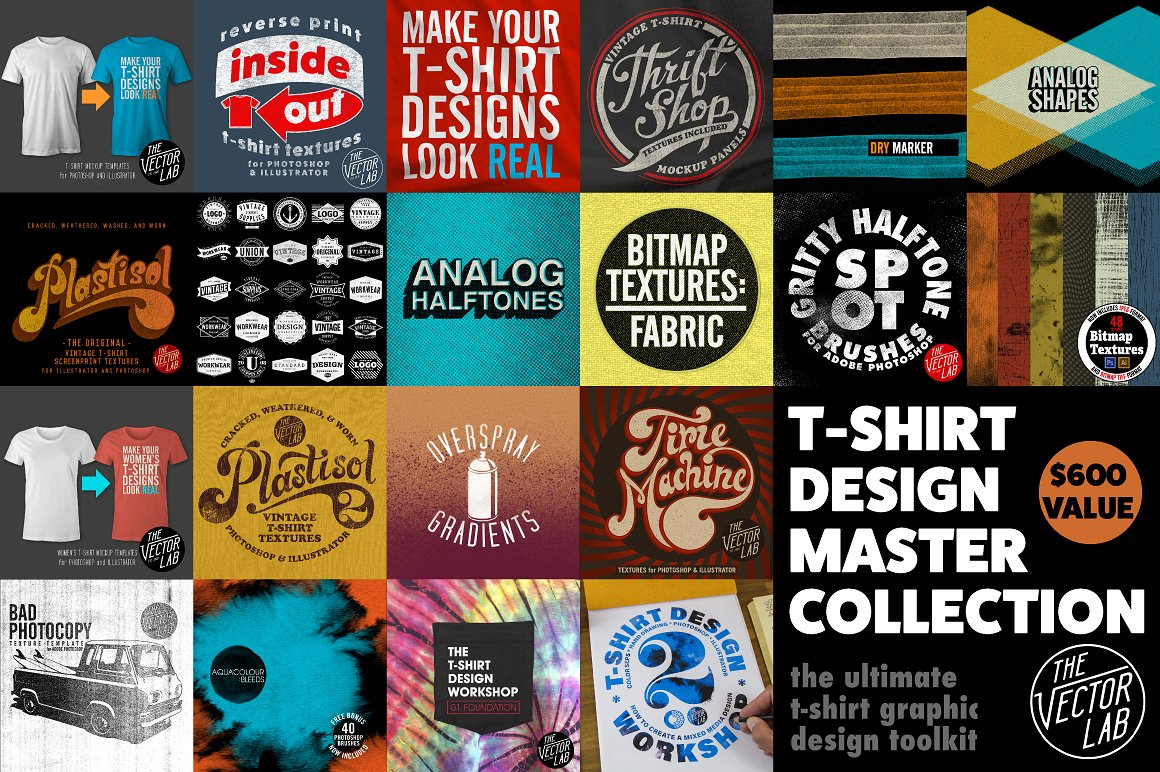 T-Shirt Design Master Collection by TheVectorLab