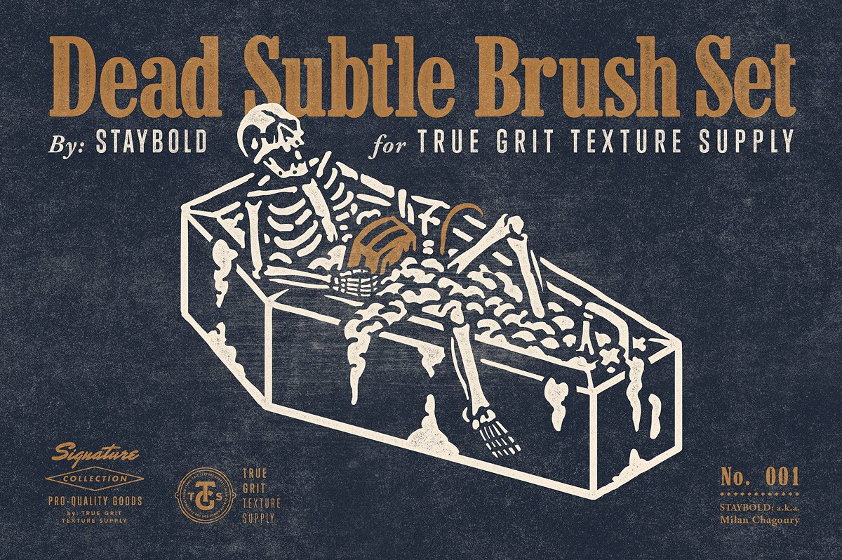 Dead Subtle Brush Set by True Grit Texture Supply