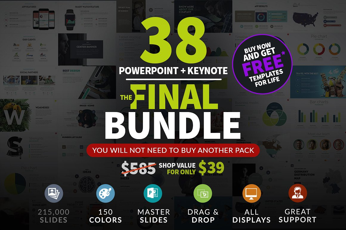 The Final Bundle | 38 Power Point Presentations by Zacomic Studios