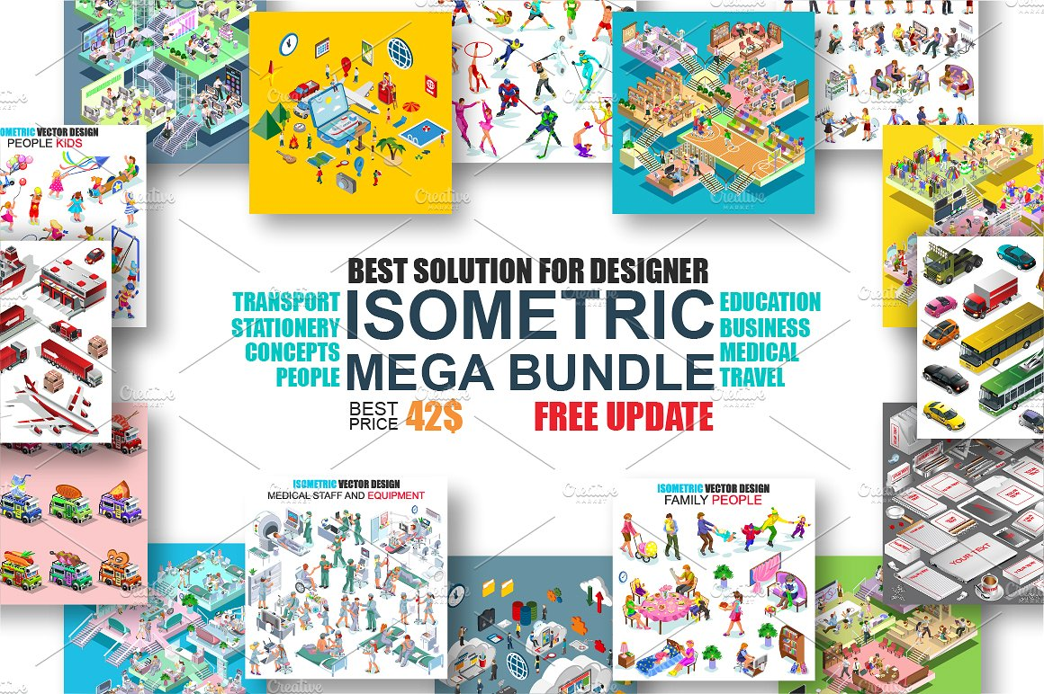 Isometric Concept Mega Bundle by alexdndz