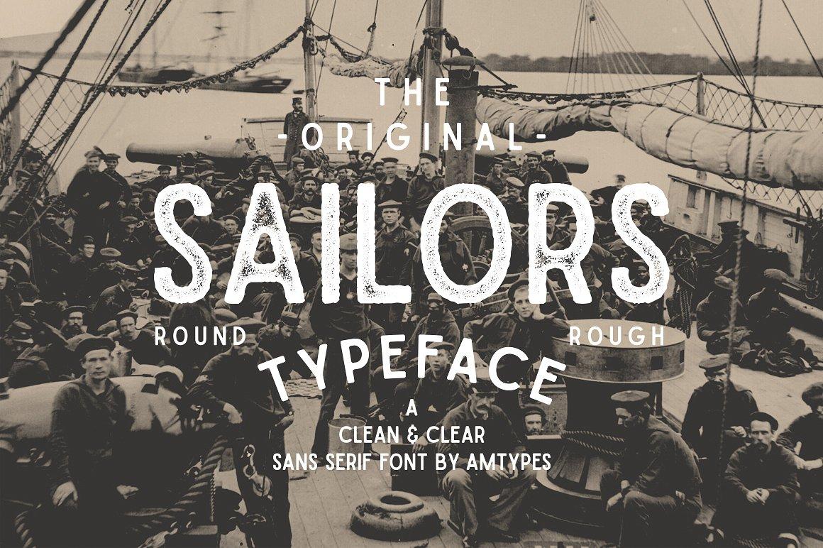 The Original Sailors Font by Angga Mahardika