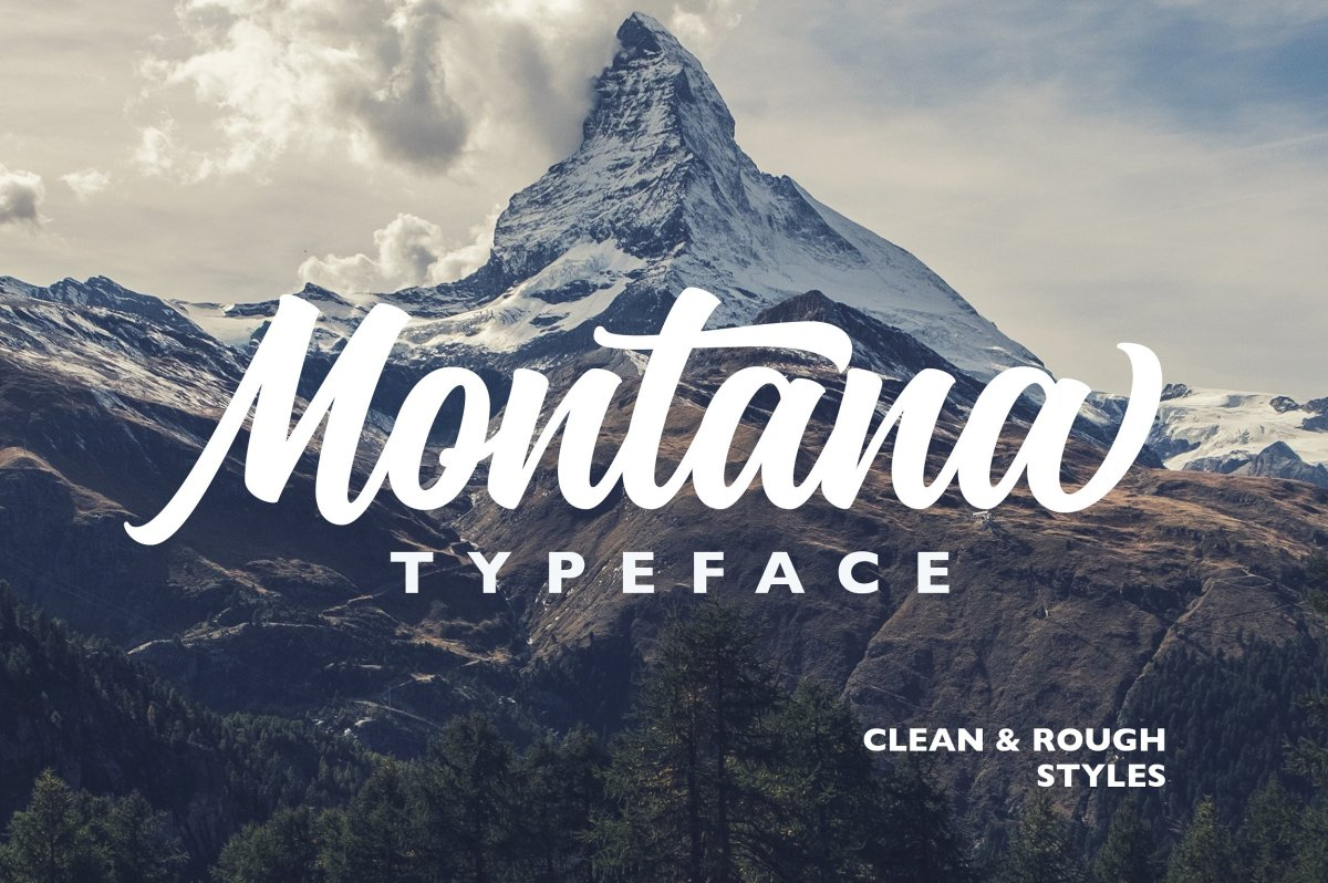 Montana Typeface by Alexcouture