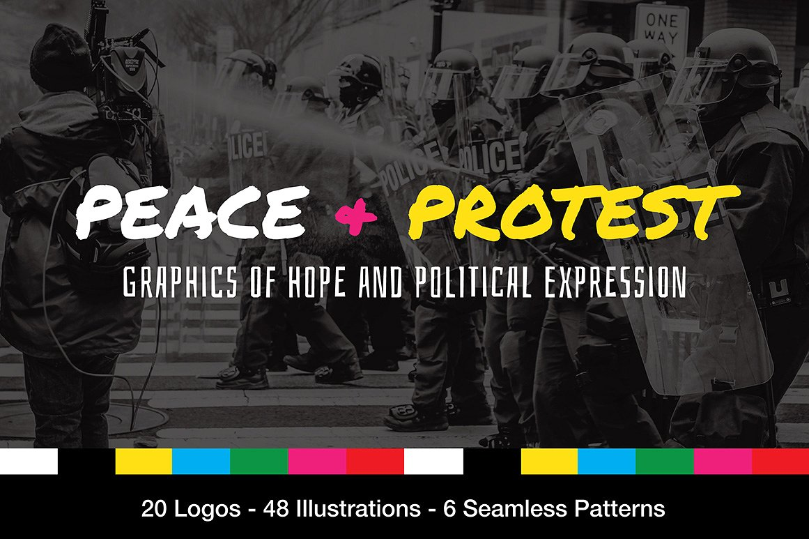 Peace and Protest Graphics by Wing's Art Studio