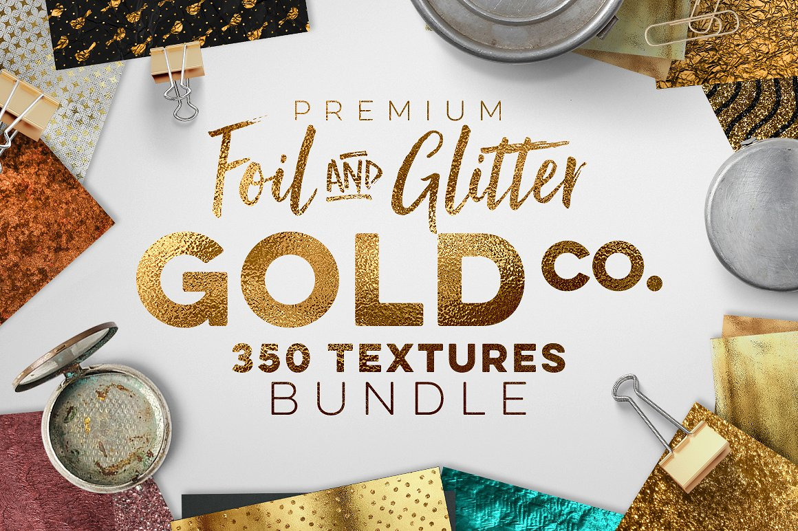 350 Gold & Metallic Textures Bundle by Zeppelin Graphics