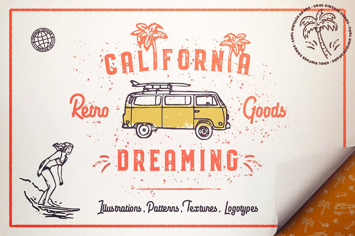 California Dreaming Summer Graphic Pack.