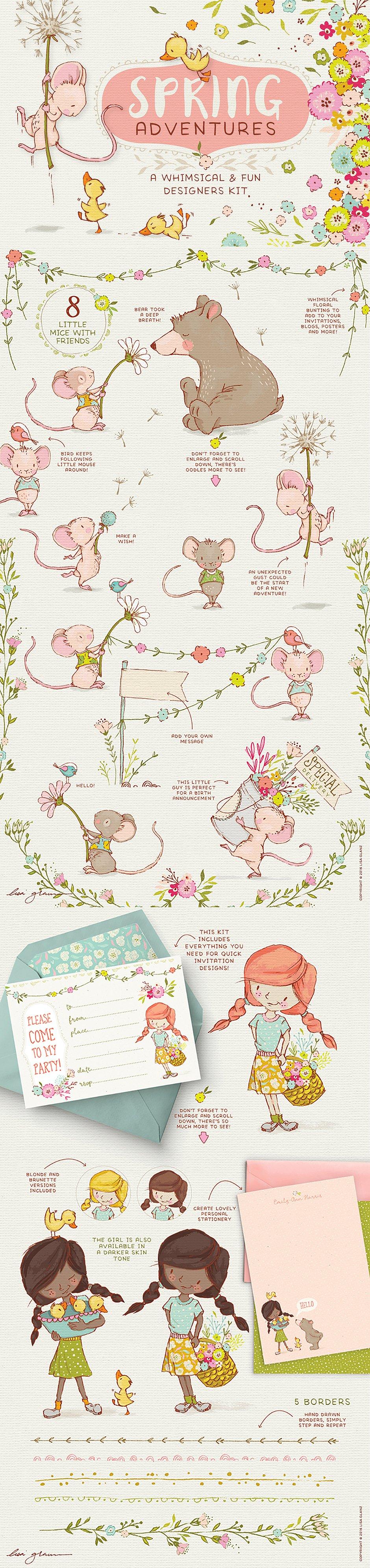 Spring Adventure Illustrations : Intro 32% Off