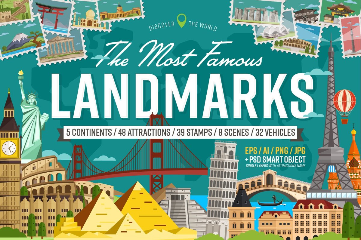 Most famous landmarks of the world by Alfazet Chronicles