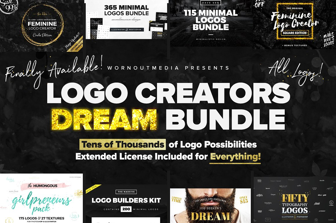 Logo Creators Dream Bundle by WornOutMedia Co.