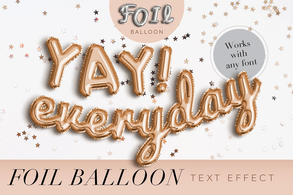 Buy Gold Foil Balloon Text Effect by Evlogiev