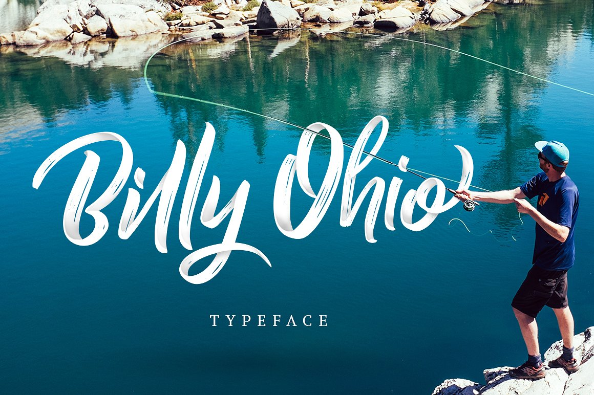 Billy Ohio Script Typeface by alit design