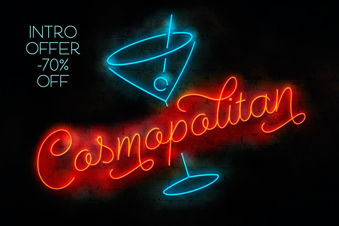 Cosmopolitan Cool Cocktail Font by Fenotype