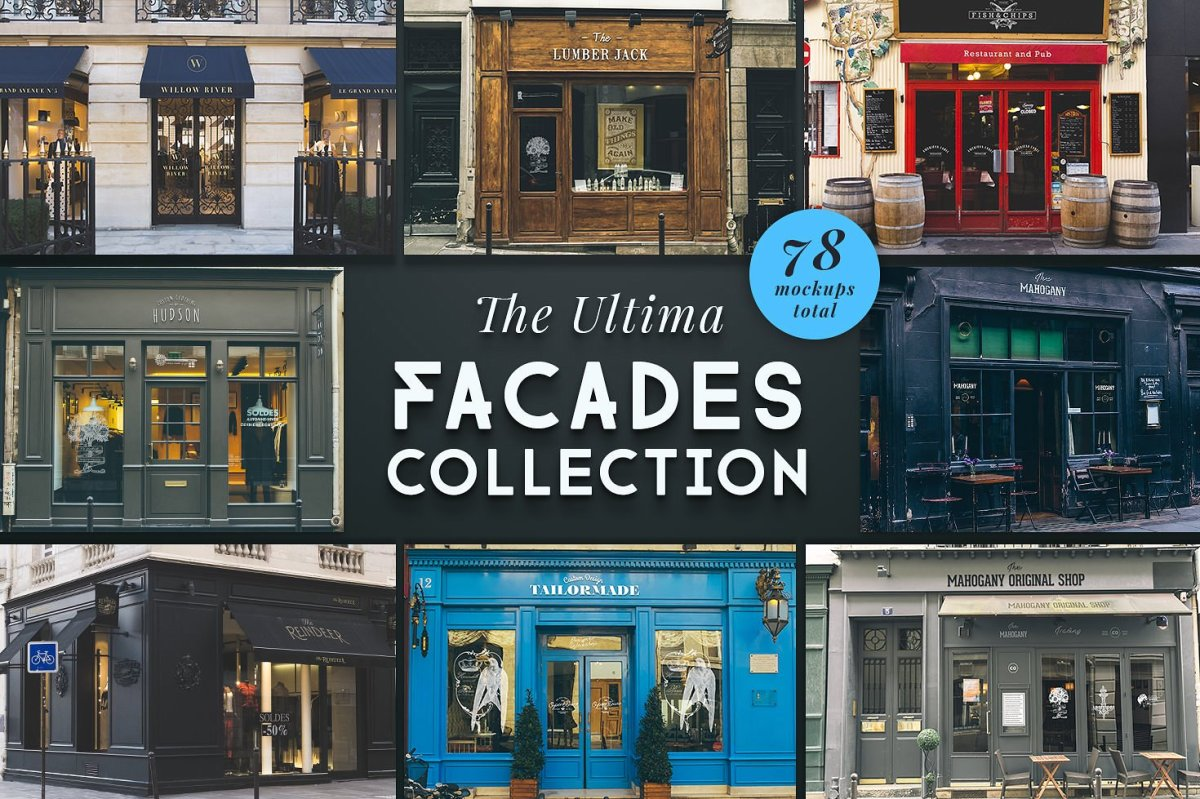 The Ultima Shopfront Mockup Collection by by Madebyvadim