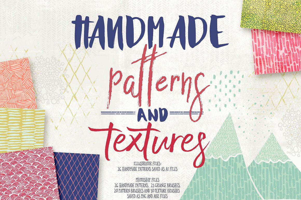 Handmade Inky Patterns and Textures by 7th Avenue Designs