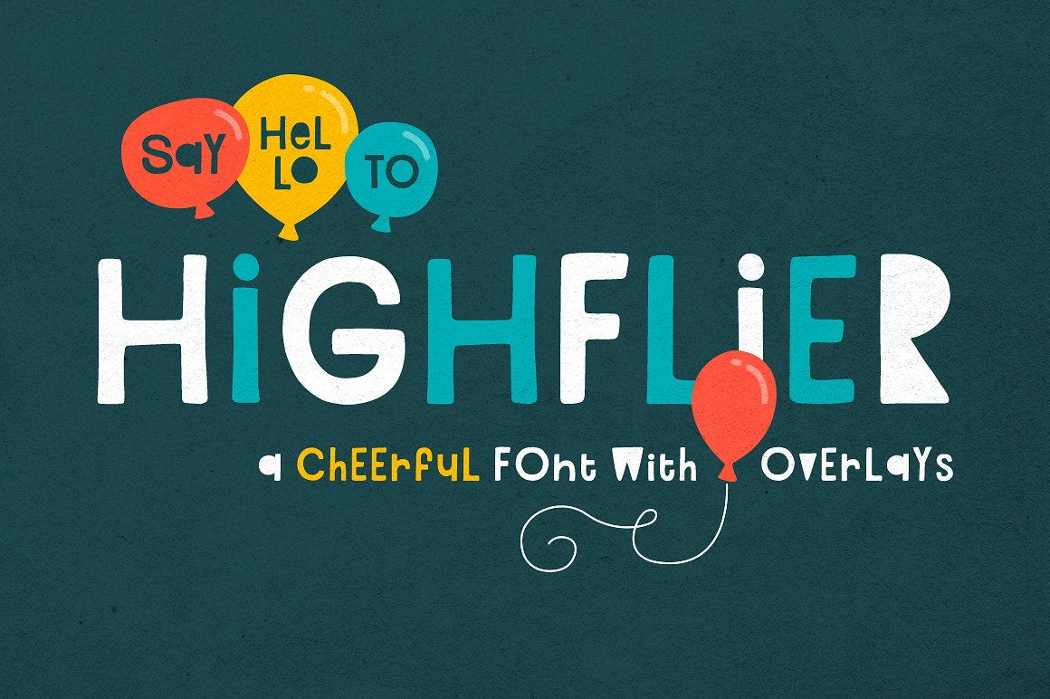 Highflier Cartoon Style Font by Denise Chandler