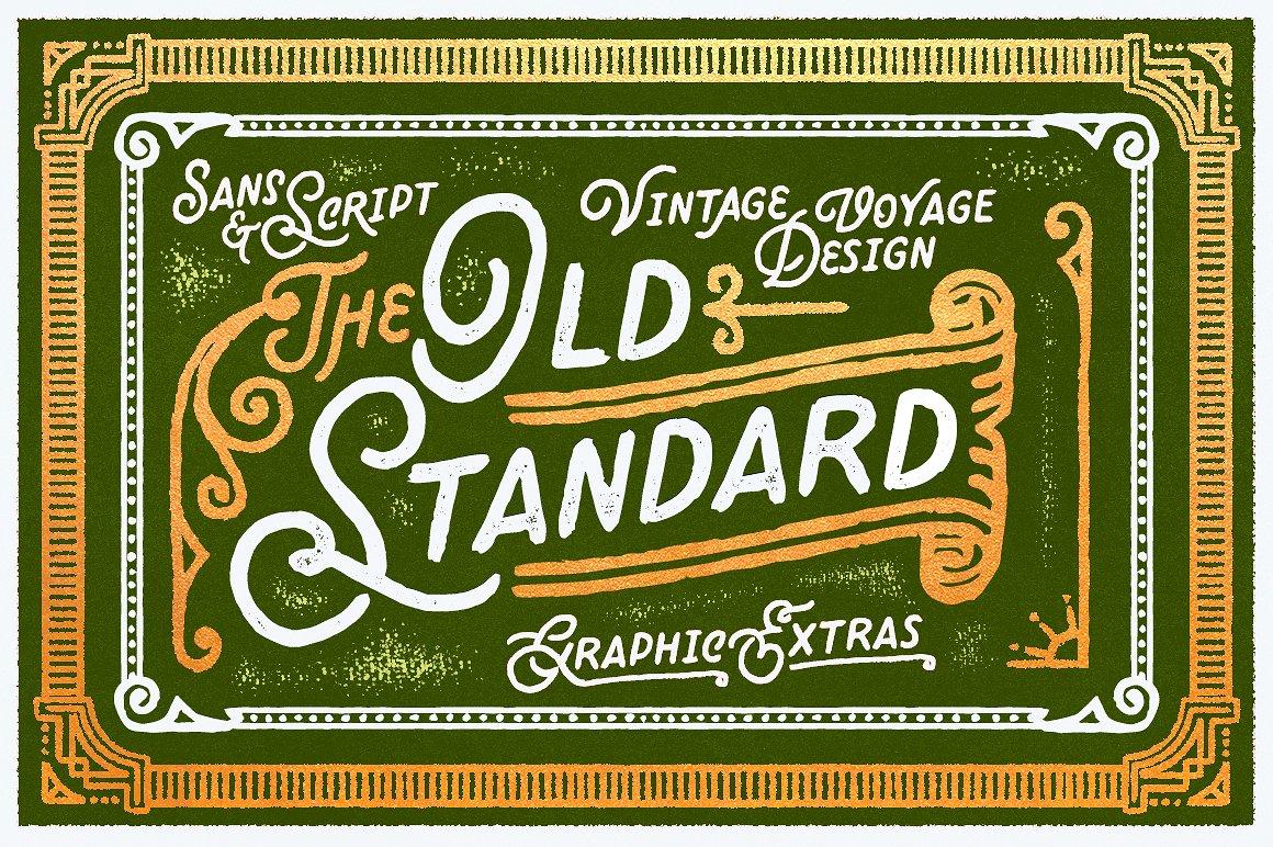 Old Standard Vintage Sans Script Font by Vintage Voyage Design Co.