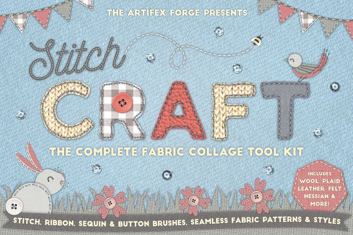 The Amazing Fabric Collage Kit by The Artifex Forge