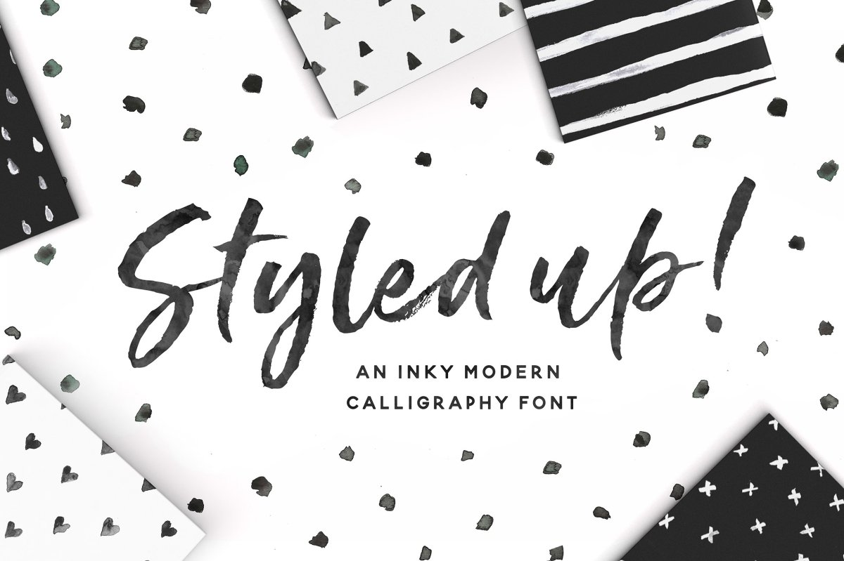 Styled up! The New Brush Calligraphy Font Duo from Nicky Laatz