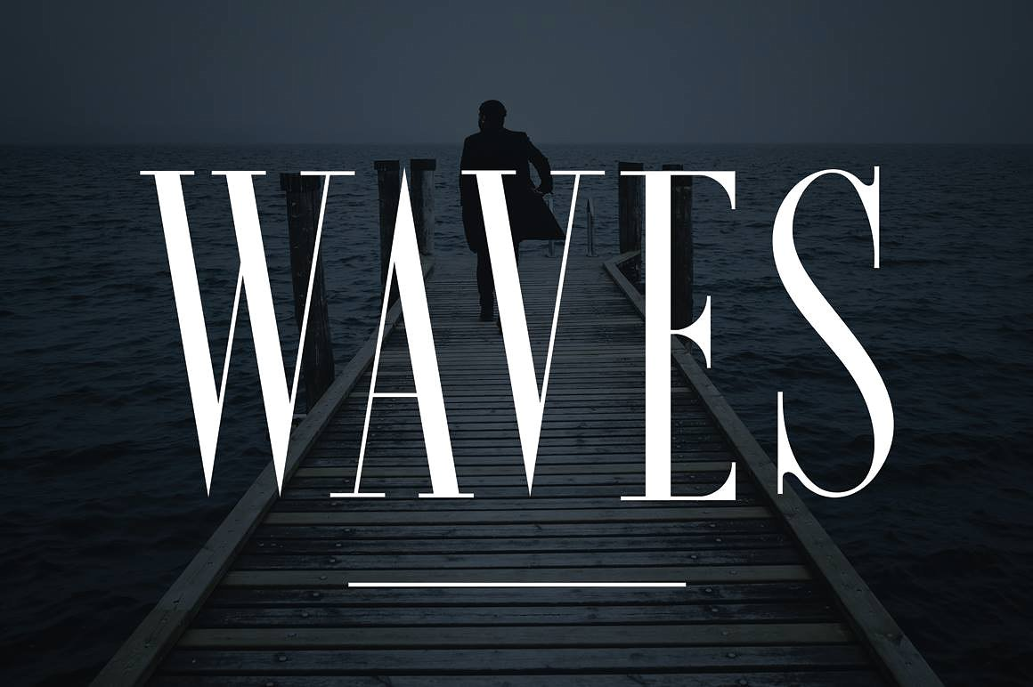 Waves; The Ultra Condensed Serif Font by Font Forestry