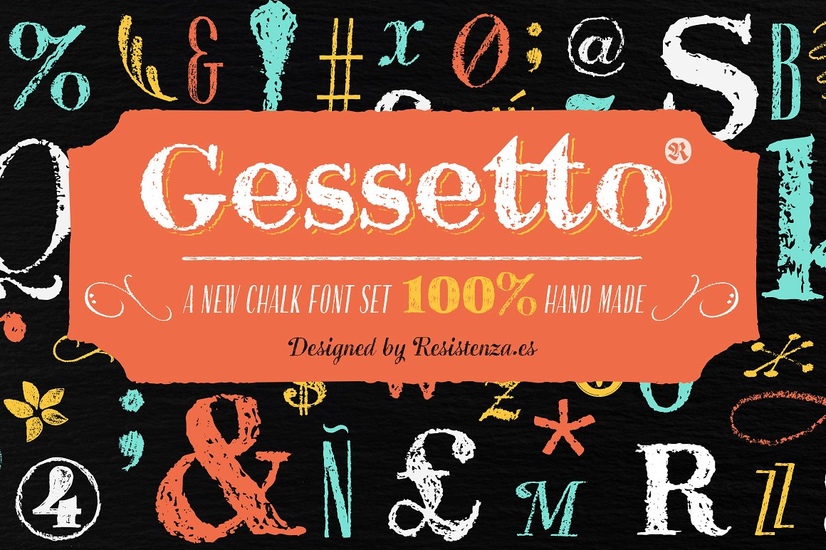 Fun Crayon Font Gessetto by Rsz Type Foundry