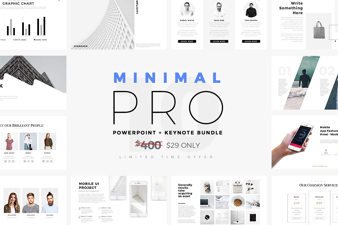 Minimal PRO Presentations Bundle by SlidePro