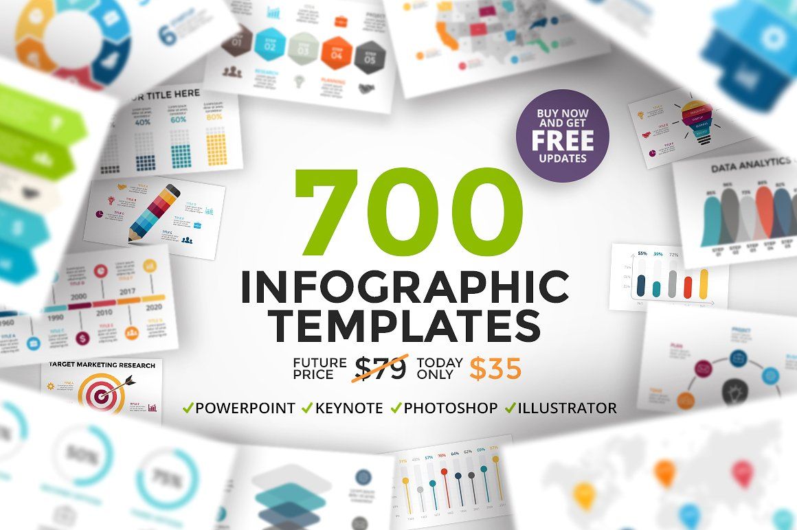 700 Infographic Templates for Illustrator and Photoshop by TheSeamuss