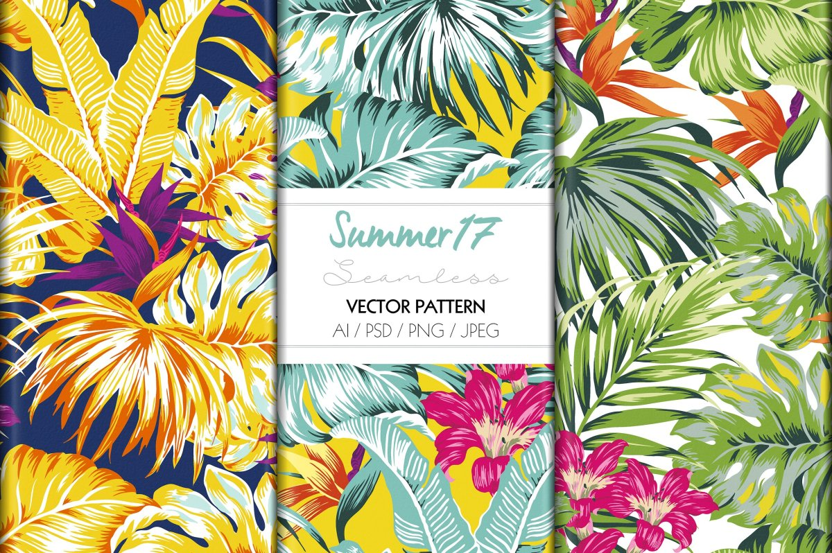Tropical and Floral Summer Prints by TSTUDIO