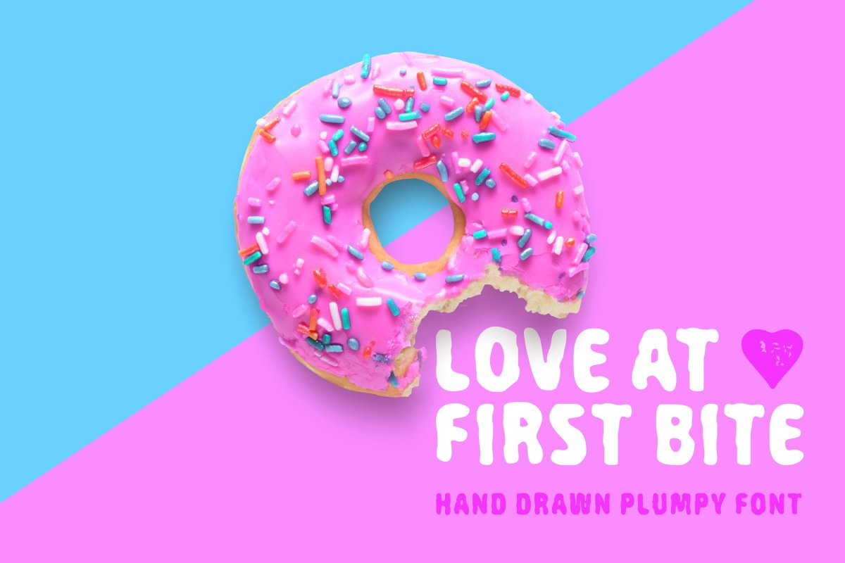 The 80s Fashion Font: Love At First Bite by Cosmic Store