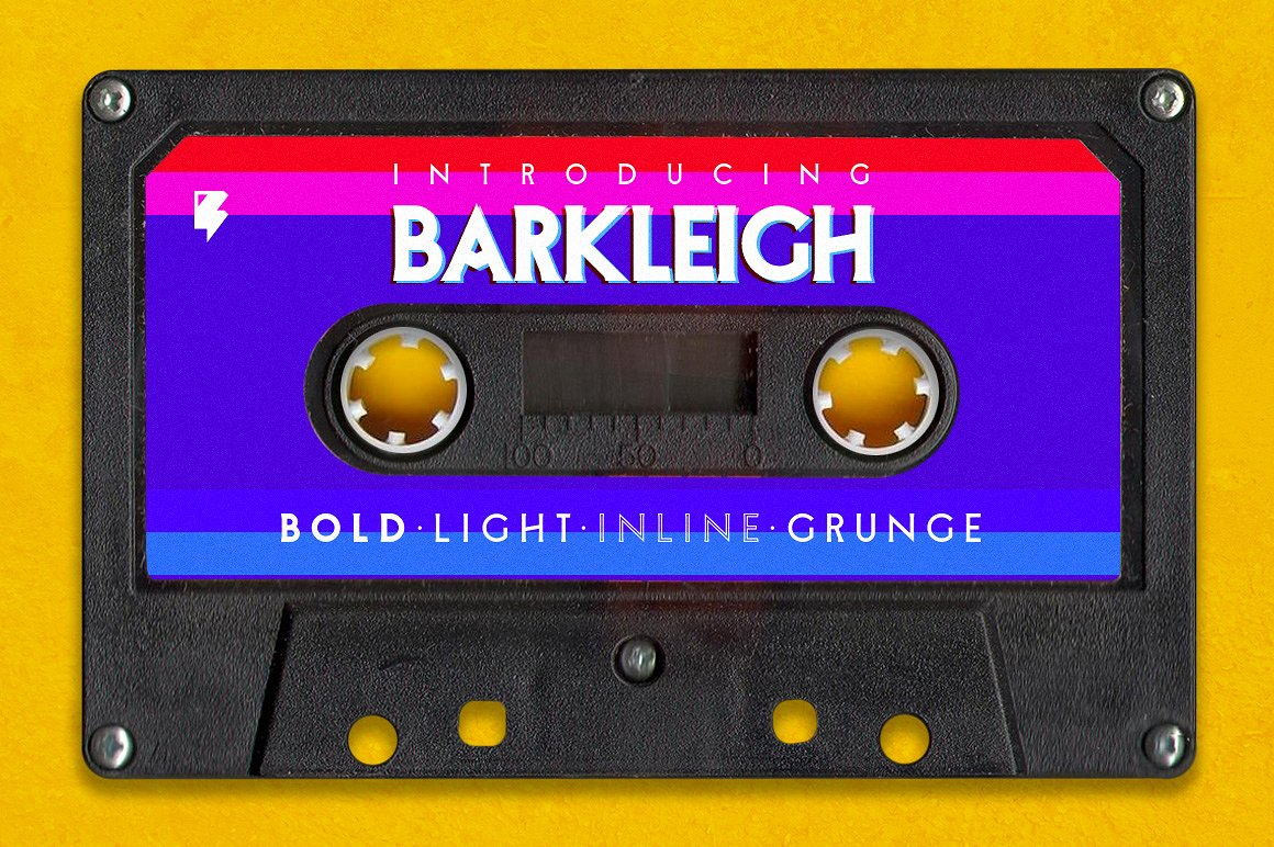 Barkleigh - The John Carpenter Style Font by Badspark