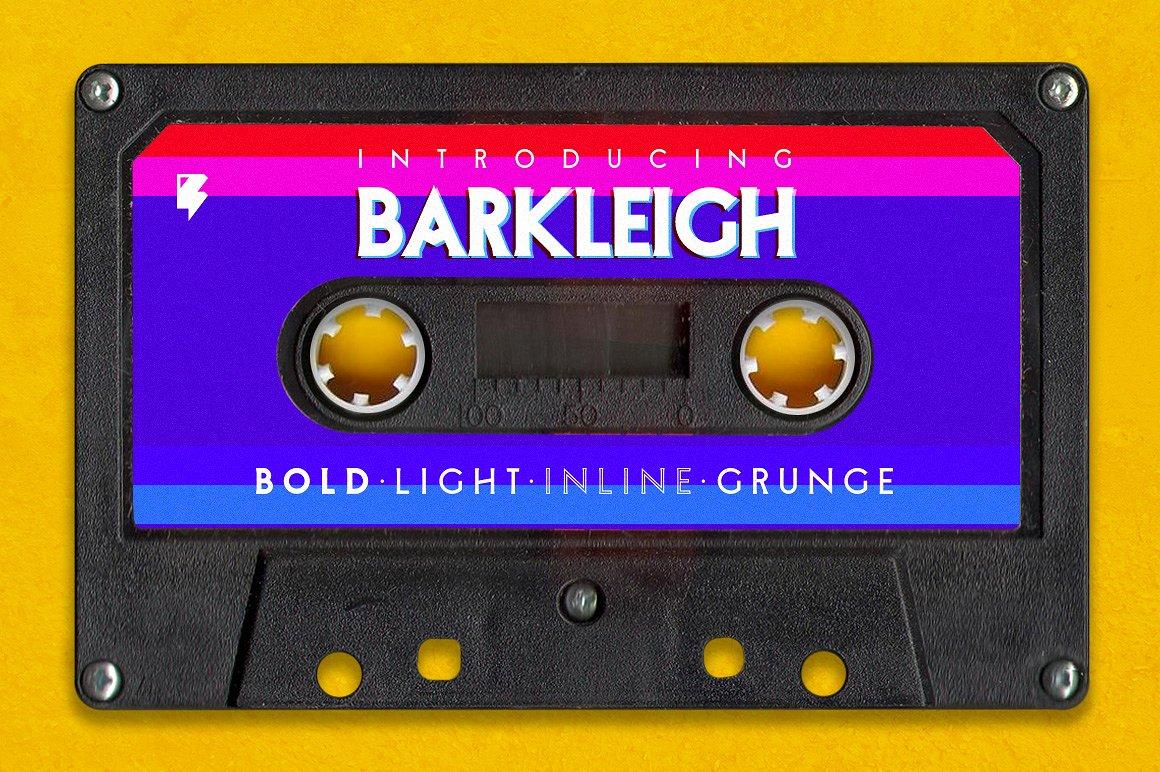 Barkleigh - The John Carpenter Style Font by Badspark