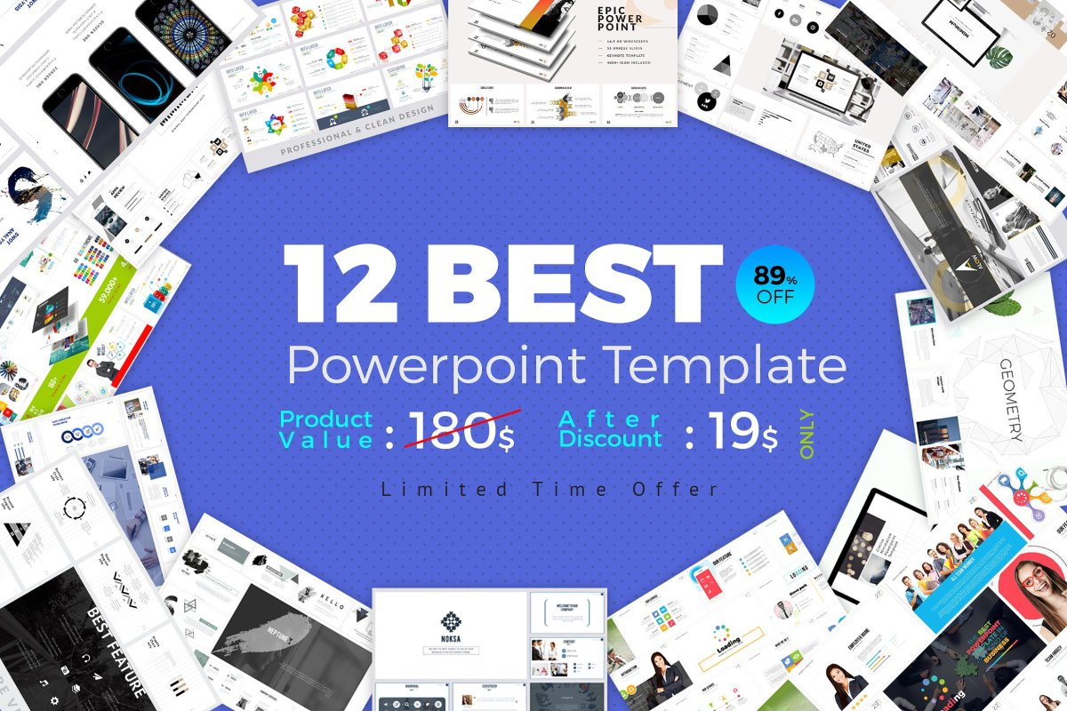 The Best 12 PowerPoint Template Bundle by ZAAS