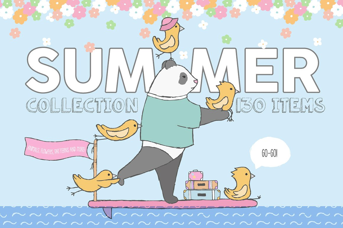 The Cute Summer Illustration Collection by Julia Dreams