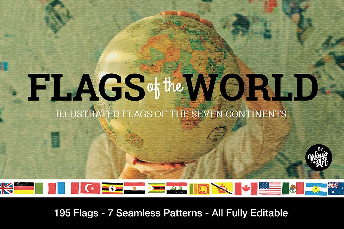 Flags of the World - Vector Icons by Wing's Art Studio