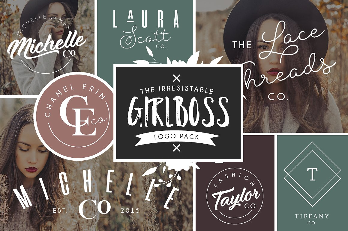 The Girlboss Logo Template Bundle by Kamii Dewberry