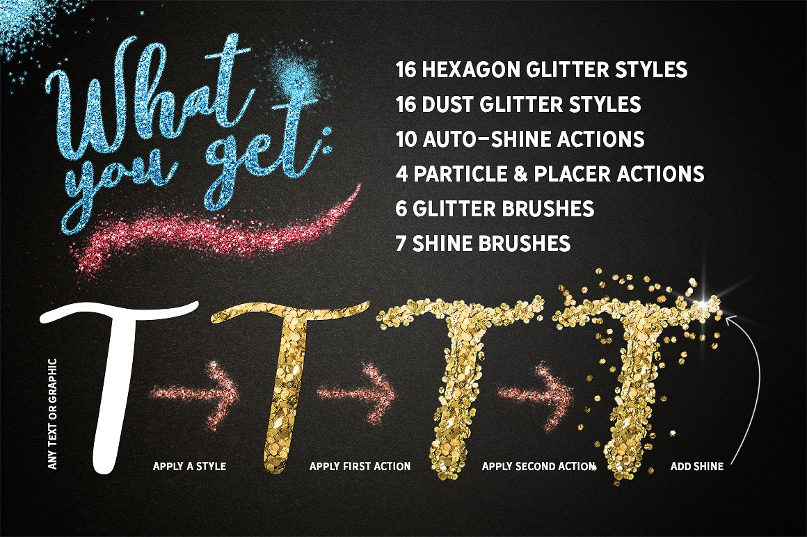 Glitter Effects for Photoshop by Graphic Spirit