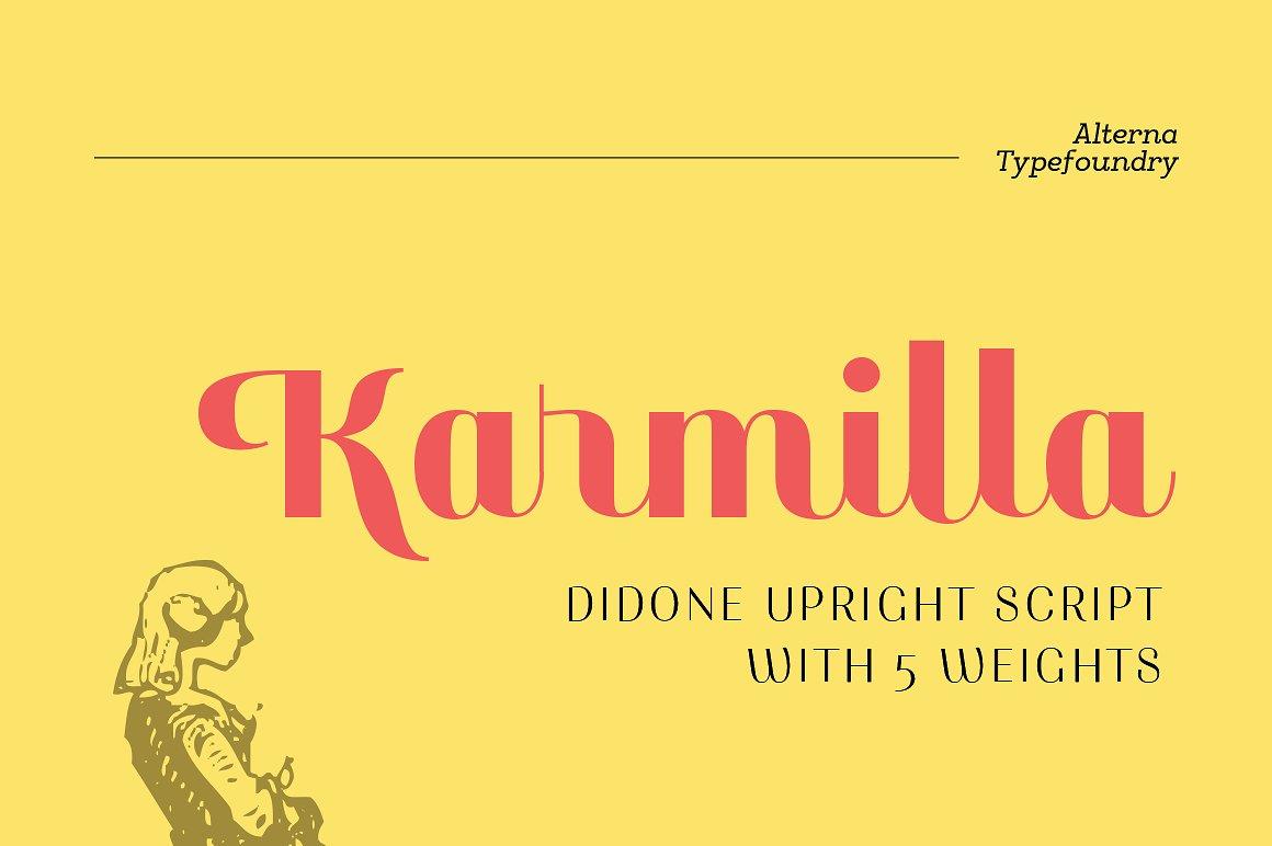Karmilla Typeface 50% OFF by akufadhl