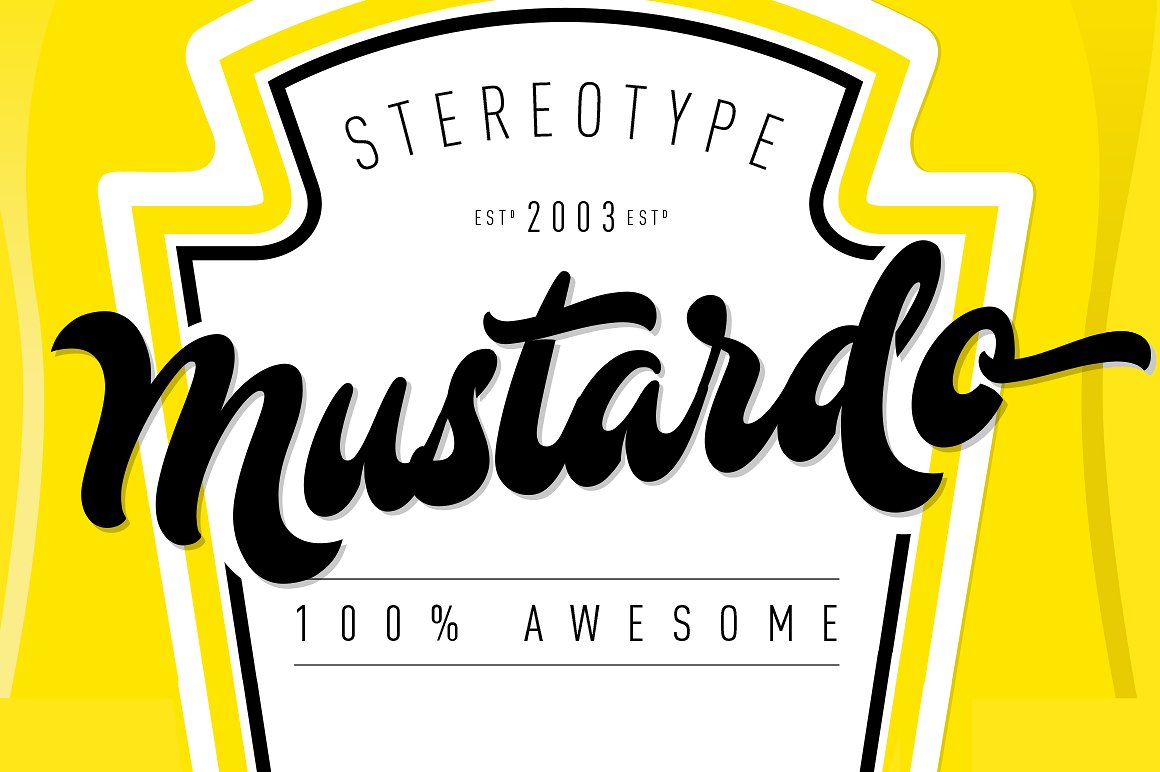 Mustardo - The Retro Food Font by StereoType