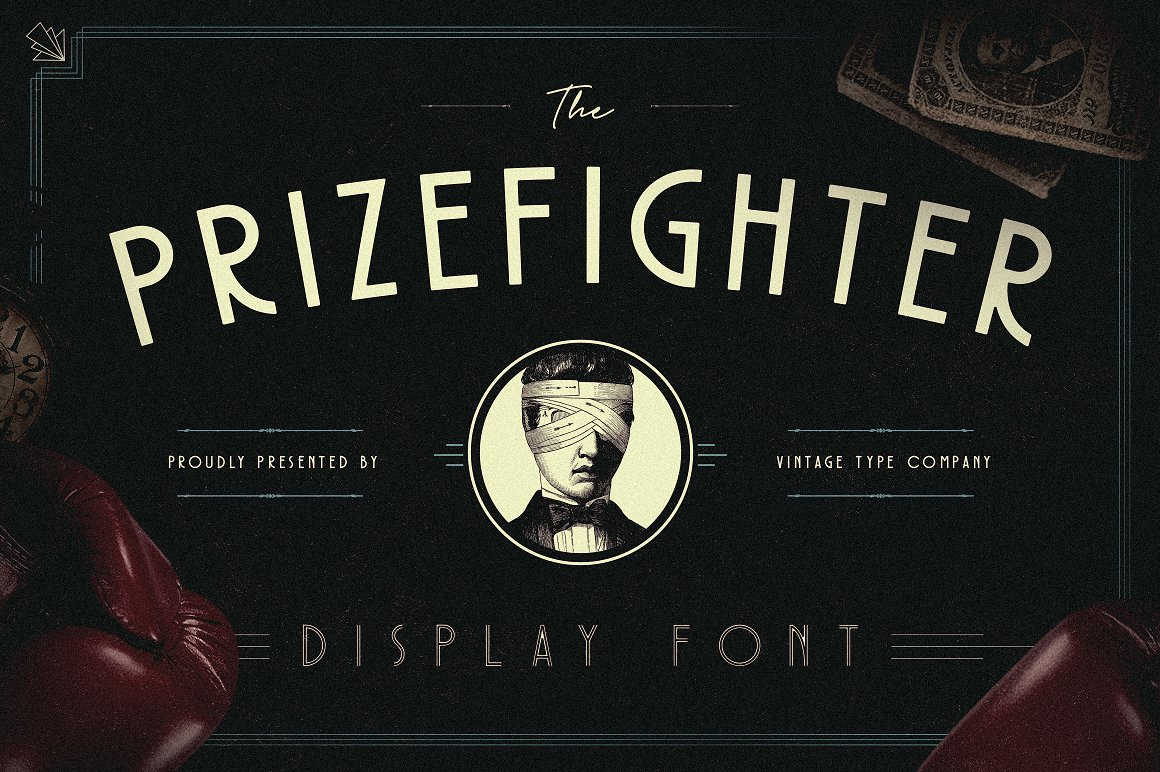 Prizefighter: The Art Deco Display Font by Vintage Type Co.