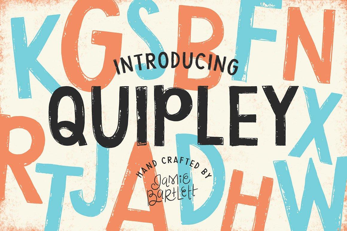 Fun Cartoon Style Font: Quipley by Jamie Bartlett