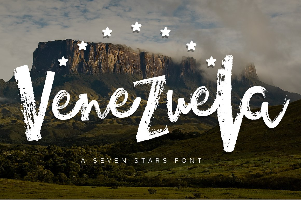 Venezuela - Grungy Dry Brush Font by Latin Vibes