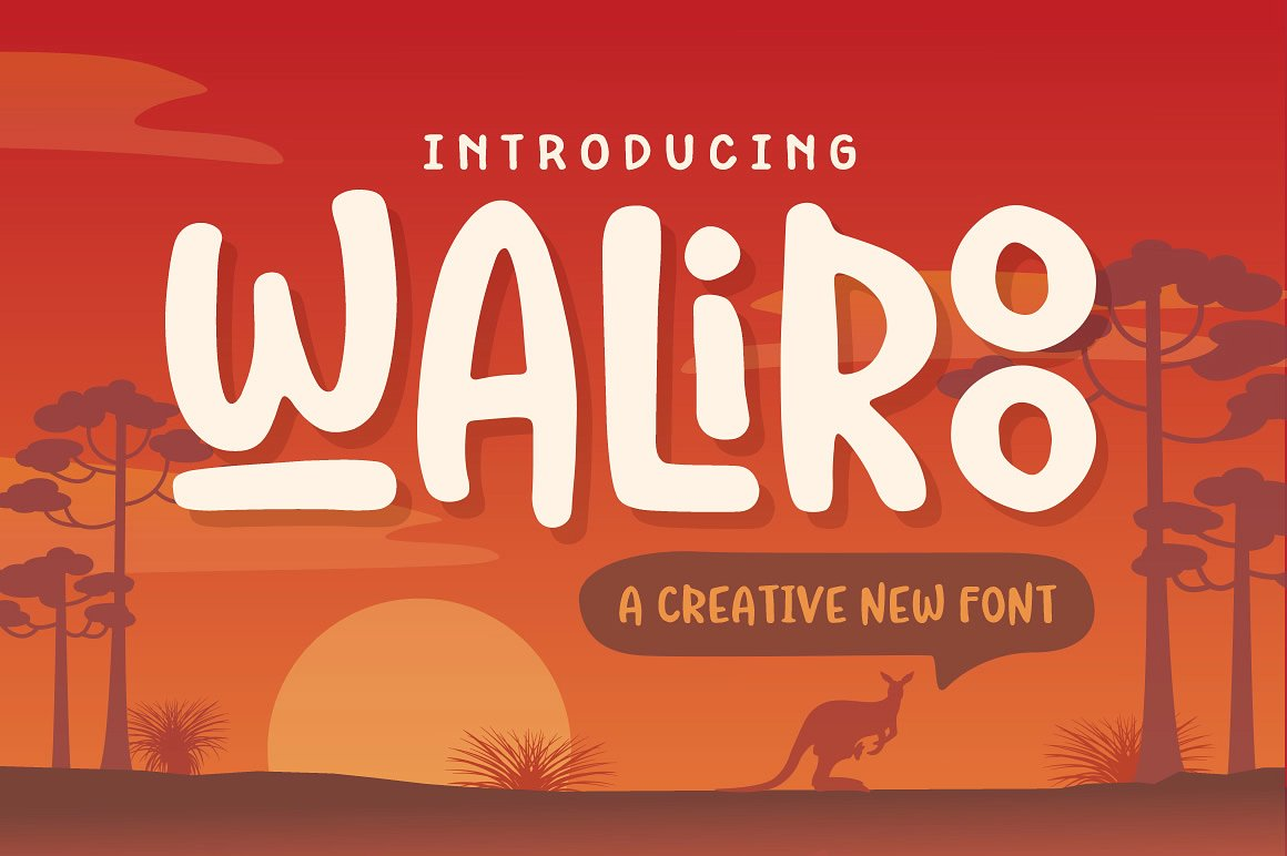 Waliroo Australian Style Font by Denise Chandler