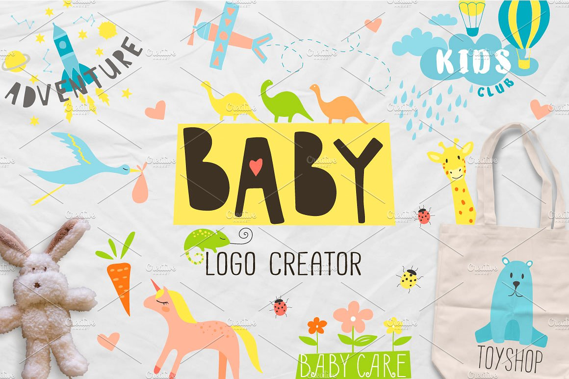 Baby Graphics and Logo Creator by Katerina