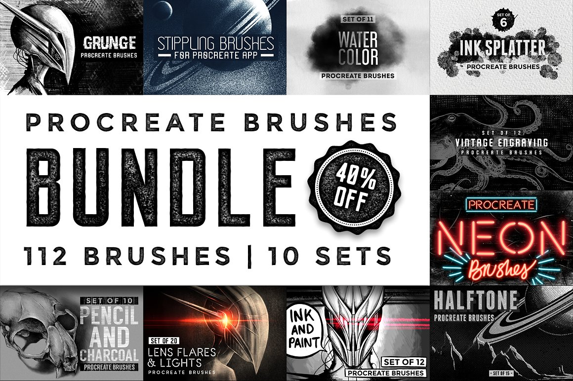 The Essential Artists Procreate Brushes Bundle by MiksKS