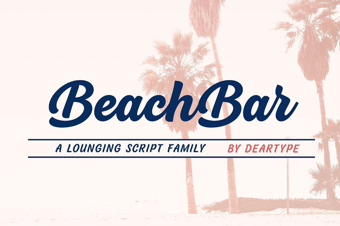 The Perfect Summer Beach Bar Font by DearType