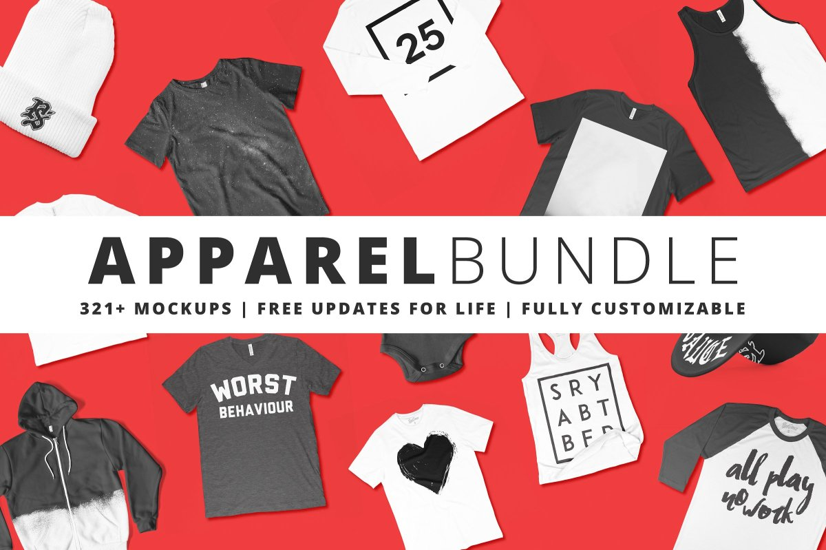 321+ Apparel Mockups Bundle by Pixel Sauce