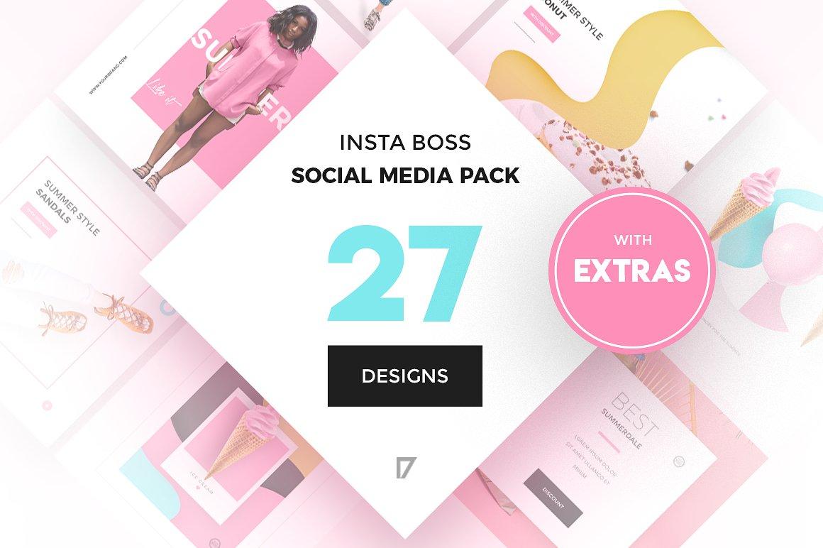 InstaBoss Social Media Pack by Skewline