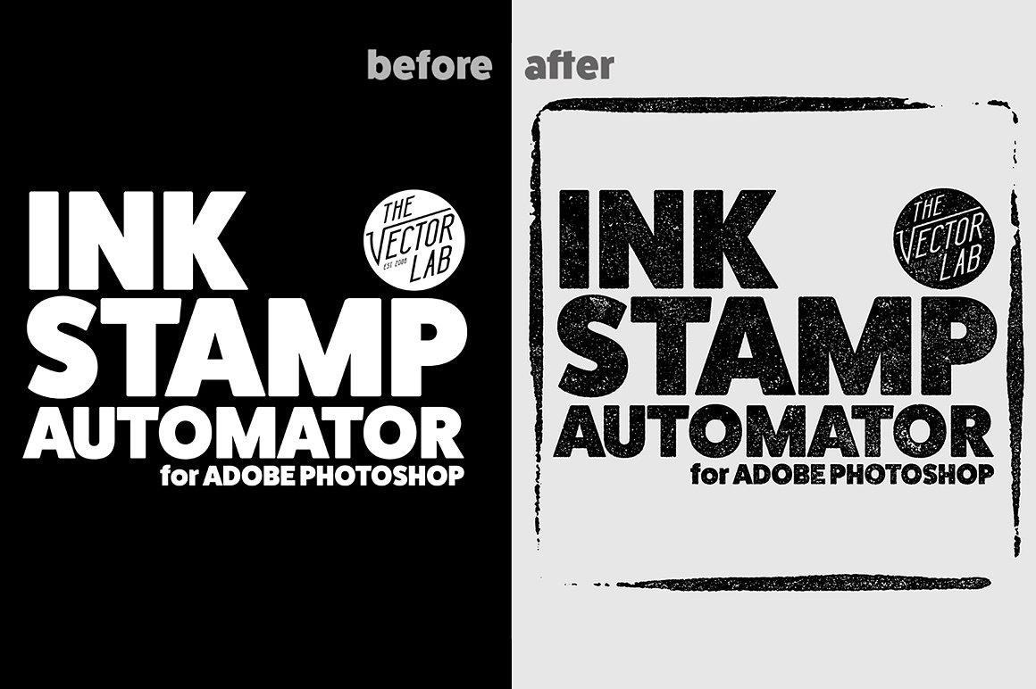 Rough Inking Stamp Creator by TheVectorLab