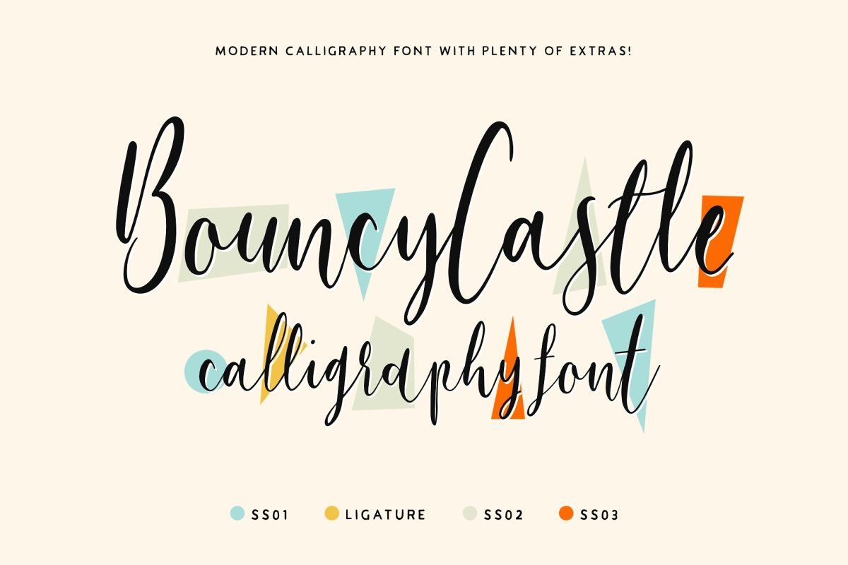 The Cute Bouncy Castle Calligraphy Font by Tom Chalky