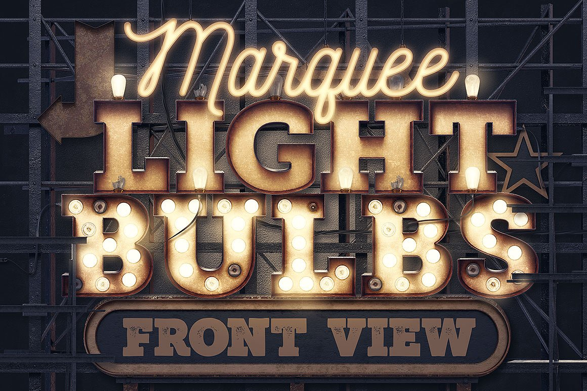 Marquee Light Bulb Templates and Effects by tvartworks